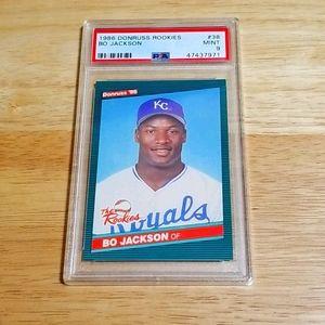 1986 Bo Jackson RC- Donruss Rookies # 38 - PSA 9